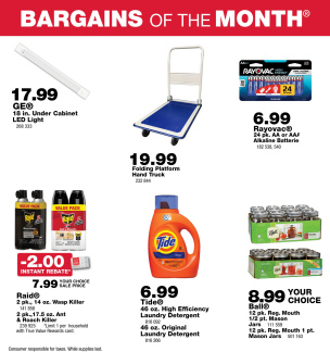 Bargains of the Month - On Sale Now!